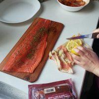 Salmon on Cedar wood