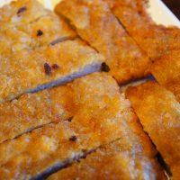 Deep fried pork cutlet serving with NAKWON sauce