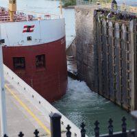 Ship entering